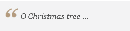 O Christmas Tree Quote